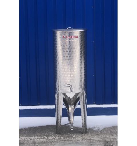 Коническая емкость 230 литров с рубашкой охлаждения