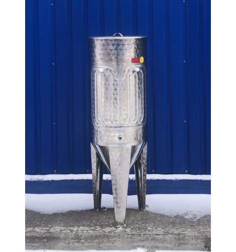 Коническая емкость 120 литров с плавающей крышкой и рубашкой