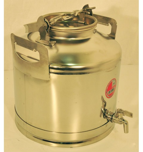 Бидон из нержавеющей стали с краном 20 литров.