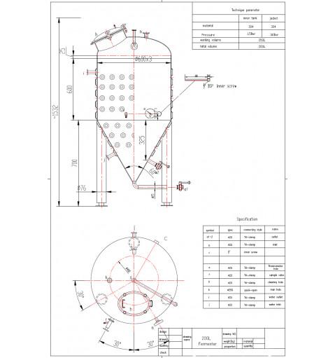 ЦКТ 250 л с рубашкой охлаждения, Арт. 12105