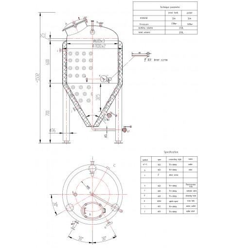 Термоизолированная ЦКТ 250 литров.