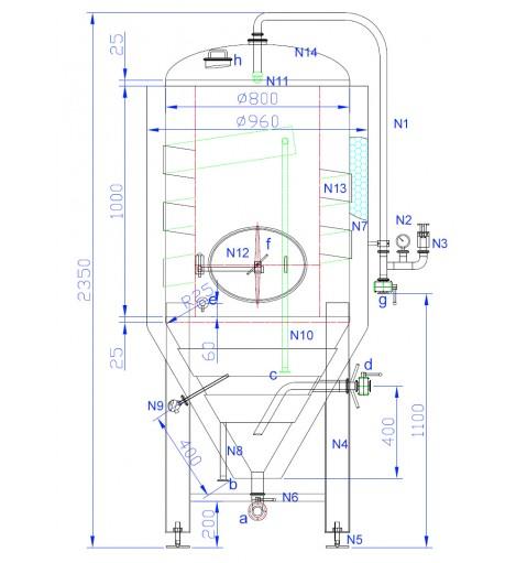 ЦКТ в термоизоляции 680л (Давление 2 бара).