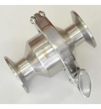 """Обратный клапан 1"""" с кламп соединением 50.5мм."""