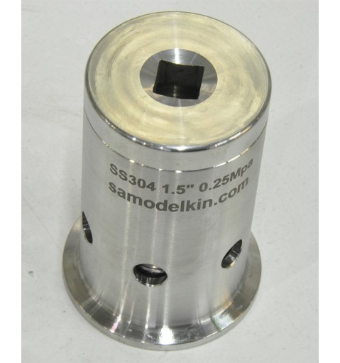 Клапан безопасности 2,5бар с кламп соединением