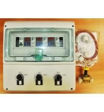 Система контроля температуры для трех  емкостей.