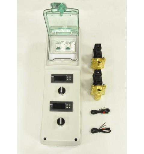 Пульт контроля температуры для емкости с рубашкой охлаждения