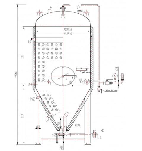 Термоизолированная ЦКТ 1200 литров.